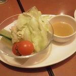和民 - 生野菜のバーニャカウダー風って。