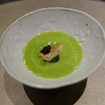68576384 - グリーンピースの冷製スープ