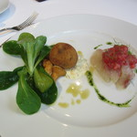 銀座 ハプスブルク・ファイルヒェン - オードブル:仔牛肉のクロケッテン、イサキのシュニッテ、ショウガの香り