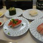 にこにこ寿司 - はまち、目鯛、かつお、あじたたき