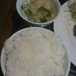美味亭 - ライスとスープ