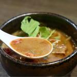 麺家 あべの - 甘えびの風味がたっぷり濃厚なスープ
