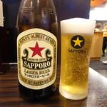 究極の北京飯・らーめん 半熟堂 - 瓶ビール(600円)