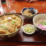 とおせんぼ - 料理写真:カツ丼セット