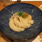 切麦や甚六 - 「親子天ぶっかけうどん 大盛」950円