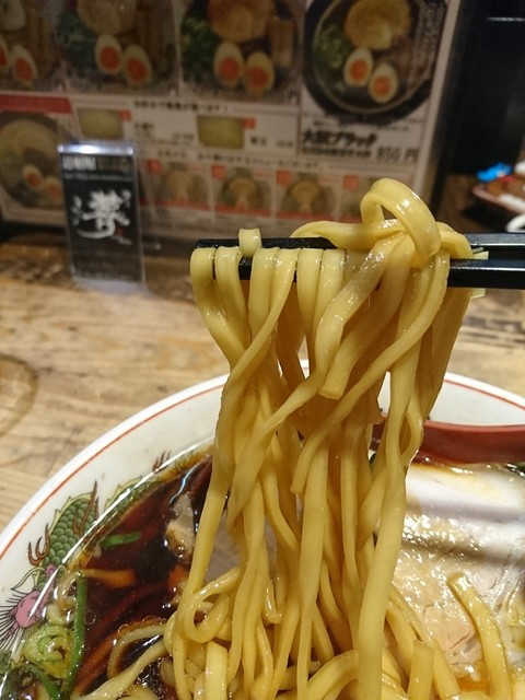 金久右衛門 道頓堀店 - 2017年5月 黒醤油ラーメン 800円