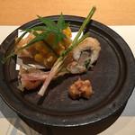 銀座 圓 - 鱧と葉生姜の天ぷら