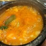 68585919 - 彩りセットのス純豆腐チゲ