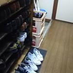 魚三酒場 - 店内(3階下駄箱)