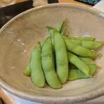 英 - 湯がきたて枝豆