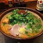 炙り味噌らーめん 麺匠 真武咲弥 - エスニックパクチー味噌ラーメン