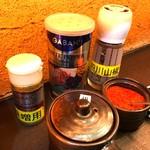 炙り味噌らーめん 麺匠 真武咲弥 堂谷商店 - 「卓上ガラムマサラでスープカレー」