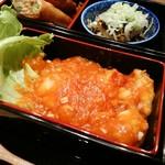 神楽坂 料理 やま本 - 海老チリ ピリ辛です(^-^)