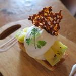 コトカフェ - ゴールデンキウイとココナッツクリームのレモンタルト2