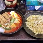 元祖旨辛系タンメン 荒木屋 - 「冷やし五目麻婆麺」(850円)+「チャーシュー2枚」(200円)
