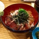 銀の里 - 料理写真:週替わりランチのメイン「海鮮漬け丼」