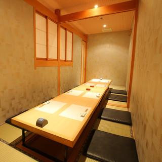 接待、結納、顔合わせ、記念日に最適な個室完備【最大12名様】