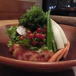 68604139 - 豆腐と鶏のゴマ風味サラダ