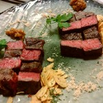 68605144 - メインのお肉はミスジとランプを選択