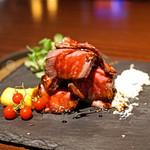 ブルーノート東京 - 和牛ローストビーフと焼き茄子のディオ 西洋わさびのディップ
