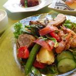 レ・プゥス・ヴェール - 料理写真:ランチの前菜盛り合わせ。旬のお野菜たっぷり。他ではなかなかお召し上がり頂けないフレンチテイストの前菜です。