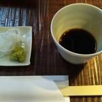 そば 蕎文 - シンプルな白葱と山葵&付け汁
