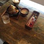ビア ドリット - 但馬牛ハンバーグ&チキン南蛮ランチ1200円