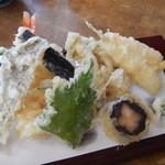 湧水 - 天ぷら盛り合わせ