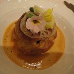 シェ松尾 - 魚料理(ホタテ)