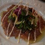 6861659 - マグロのカルパッチョ、マスタード風味