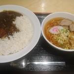 ラーメン酒場 酔っ手羽大王 - カレーラーメンセット750円