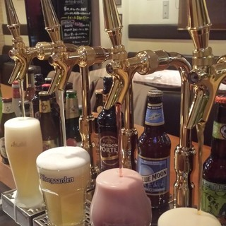 4種類の生ビールが味わえます!
