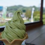 和束茶屋 山甚 - 抹茶ソフトクリーム