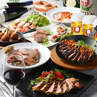 ALL肉料理「肉まみれ」コース!樽生飲み放題付4980円~!