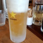 あおぞら銭函3丁め - 生ビール 520円