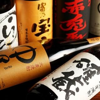 多種多様な美酒を取り揃え