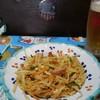 琉球の味 あちゃ家 - 料理写真:パパイヤしりしり&ビア