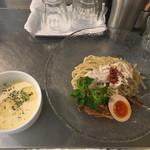 麺や庄の gotsubo - 「トウモロコシの冷たいつけ麺」890円