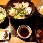 豆家genge - 日替わり御膳(海鮮丼) 880円
