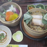 柳 - 料理写真:Kiredo野菜とおこわのセイロ蒸しランチ