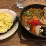 スープカレーGARAKU - やわらかチキンレッグと野菜