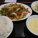 珉珉 - 鶏肉とニンニクの芽 四川風ピリ辛炒めセット