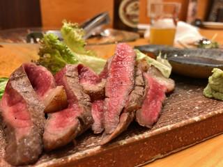 酒菜処 きっすい - 広島産和牛もも肉網焼き
