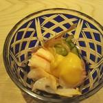 68627705 - 鮹ぶつ&蟹身の酢の物