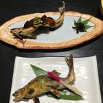 まる八 - 鮎の塩焼き、魚田