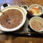 韓日茶苑 楽zen - 小豆のお粥セット