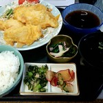 魚屋 - 料理写真:今日のおまかせメニュー(とり天定食) \500
