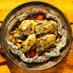 牡蠣のガーリックホイル焼き