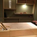 銀座 よし澤 - キレイなカウンター