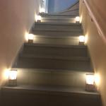 銀座 よし澤 - 店内へ続く階段